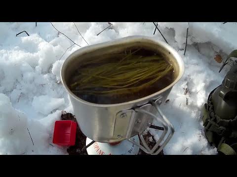 Чай из ЧАГИ в зимнем лесу