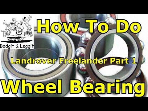 how to fit wheel bearing on a 2005 landrover freelander part 1 of 2