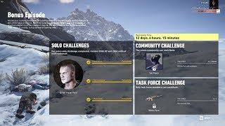 Ghost Recon Wildlands  Bonus Episode Kill The Yeti 4th Time Solo Challenges 1-3