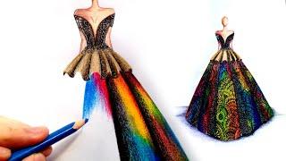 How To Draw Gown MandalaXFashionIllustration Basic Fashion Designing