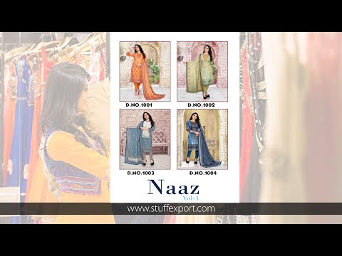 Naaz Vol-1 Luxurious Lawn Digital Printed Suits Catalog