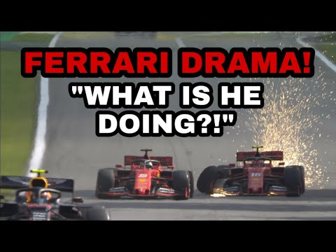 "Image: Vettel team radio during crash with Leclerc: ""What the hell is he doing?"""