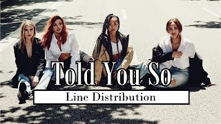 Little Mix - Told You So [Line Distribution]