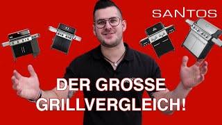 Gasgrill 4 Brenner Vergleich 2020: Weber 435 Broil King 490 Napoleon 525 Santos 418 Test Vorstellung