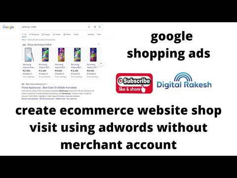 create ecommerce website shop visit using adwords without merchant account