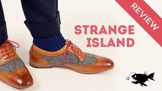 Strange Island Mens Dress Shoe Review: Walnut Herringbone Wingtip Oxfords