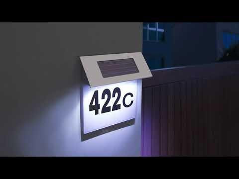 Numar de Casa Inox cu Iluminare LED Lampa Solara
