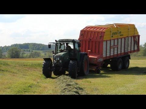 - 1. Schnitt 2012 -  Fendt 714 Vario mit Pöttinger Jumbo 6600 Profiline Ladewagen [HD]