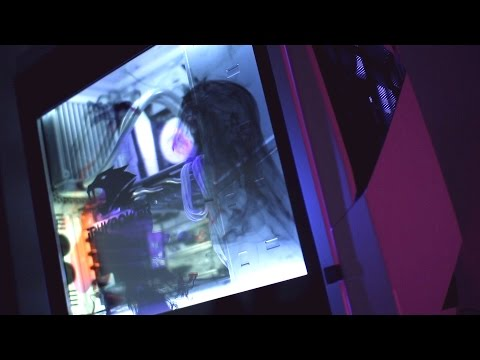 iBUYPOWER Snowblind - Tempered Glass LCD Side Panel Gaming PC!
