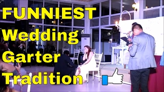 Emcee: Funniest Wedding Garter Tradition | 3 Mirrored Kisses | Ed and Bianca Reyes 01.14.2017