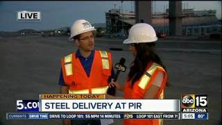 Steel delivered to PIR for improvement project