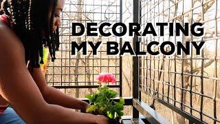DECORATING MY BALCONY + NEW PLANTS