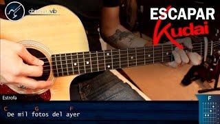 Como tocar Escapar de KUDAI en Guitarra | Tutorial Acordes
