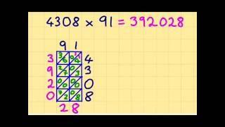Truco sencillo para aprender a multiplicar multiplicación en enrejado