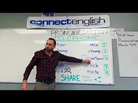 Connect English Pronunciation Telephone, Volume 16 - La Jolla Campus
