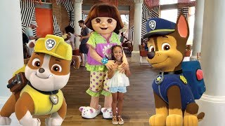 Cali Has Breakfast With Paw Patrol And Dora!