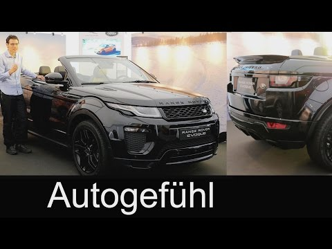 All-new Range Rover Evoque Convertible Cabriolet in-depth PREVIEW exterior/interior 2017 neu