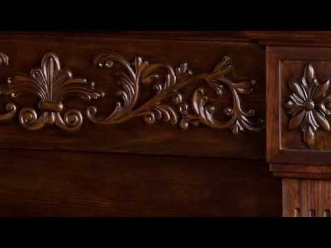 Video for Espresso Calvert Carved Electric Fireplace