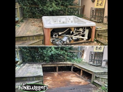 We removed this spa hot tub from a home in Milton.