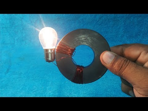 How to Make Diy Free Electricity Free Energy Generator in Copper Wire And Magnet   Science Project U