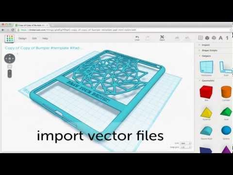 Download Link Youtube Tinkercad Import Vectors Tutorial