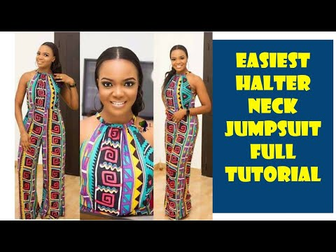 How To Make A High Halter Neck Jumpsuit DIY: #Full Tutorial