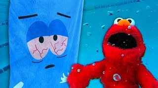 Towelie and Elmo Race Underwater! (Gone Wrong!)
