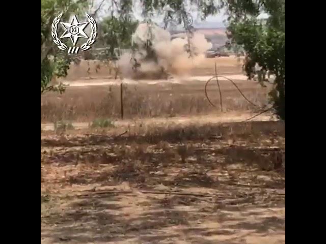 ראש נפץ של RPG שחובר לצרור בלונים אותר הבוקר בשטח חקלאי • תיעוד הנטרול