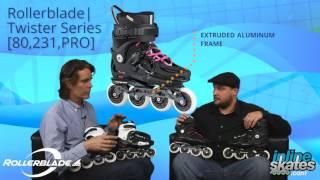 Обзор фрискейт линейки роликов Rollerblade Twister 2016 (англ.)