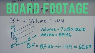 Board Footage Equation - How To Calculate Board Footage