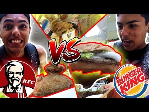 KFC vs BURGER KING vs McDonalds ¿Cual es Mejor?
