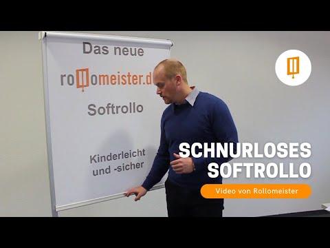 Schnurloses Softrollo - Springrollo, Federzugrollo mit Bremse - Video von Rollomeister