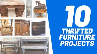 10 Thrifted And Trash To Treasure Furniture Makeovers | Episode 3