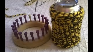 Loom Knit Easy Can Bottle Cup Cozy Koozie