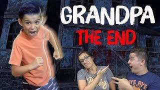 WE ESCAPED GRANDPA!! (New Car Update + Creepy Cemetery In His Backyard) Grandpa Ending