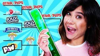 ICE POP CHALLENGE SHOWDOWN! Summer popsicle taste test! We try Warheads + Otter Pops for Summer!