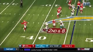 Patrick Mahomes INSANE TD Throw to Tyreek Hill vs. Chargers | NFL Week 2