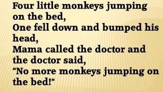 Five little monkeys lyrics videos