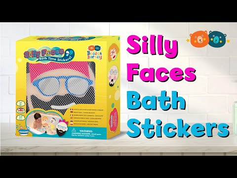 Youtube Video for Silly Faces - Bath Time Foam Stickers