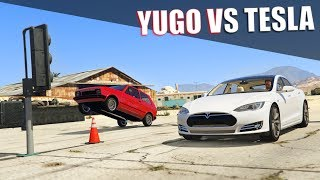 GTA V - Tesla vs Yugo