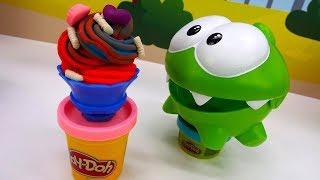 Om Nom & Play Doh ice cream. Kids