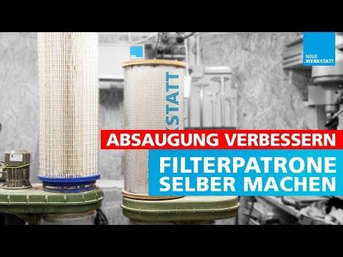 Filterpatrone für Absauganlage selber machen / Luftfilterpatrone selbst bauen / Werkstattabsaugung