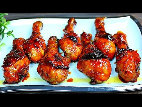 , title : 'Browned Butter Honey Garlic Chicken Drumsticks - Easy Delicious Chicken Recipe