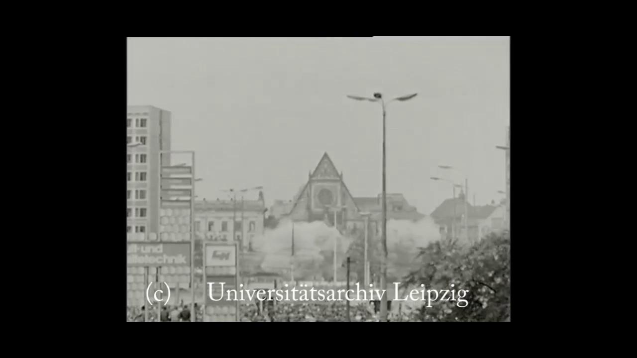 Sprengung der Leipziger Paulinerkirche (30. Mai 1968)