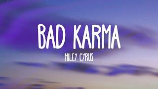 Miley Cyrus feat. Joan Jett - Bad Karma (Lyrics) - YouTube