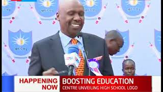Senator Gideon Moi launches the new High School logo at the Moi Educational Center
