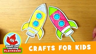 Rocket Craft for Kids | Maple Leaf Learning Playhouse