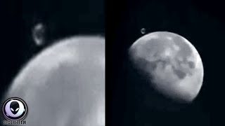 "UFO ""Mega Structure"" Caught Next To The Moon?"