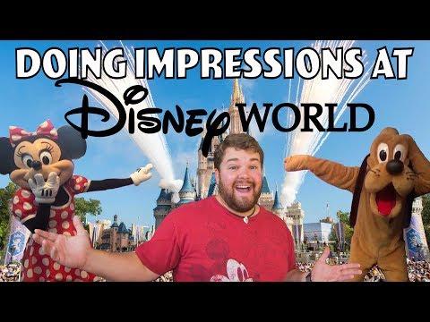 Doing Impressions at Disney World