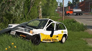 Student Driver Fails & Crashes 10 | BeamNG.drive